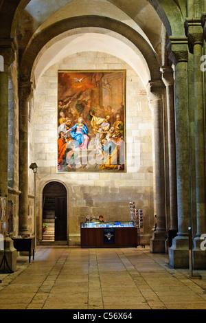Interior of Lisbon Cathedral (Sé de Lisboa) - Lisbon, Portugal - Stock Photo