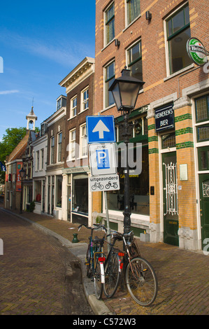 Voorhaven in Delfshaven district Rotterdam the province of South Holland the Netherlands Europe - Stock Photo