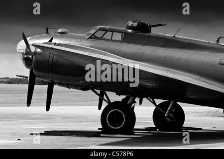 Boeing B-17G Flying Fortress 124485 DF-A  G-BEDF 'Sally-B' seen at the IWM Duxford - Stock Photo