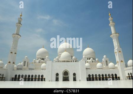 Abu Dhabi Grand Mosque - Stock Photo
