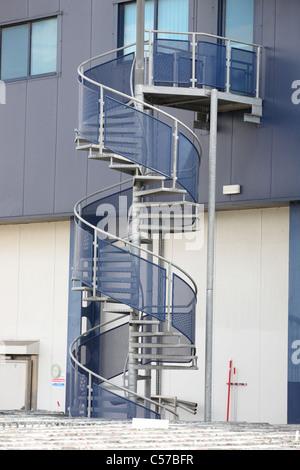 Spiral fire escape - Stock Photo