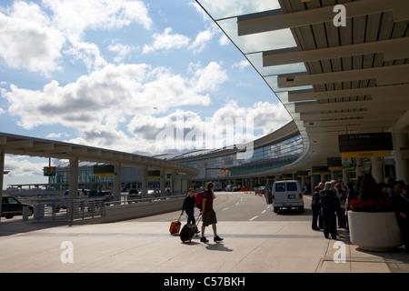 departures terminal 1 Toronto Pearson International Airport Ontario Canada - Stock Photo