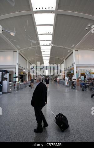 departure lounge areas terminal 1 Toronto Pearson International Airport Ontario Canada - Stock Photo
