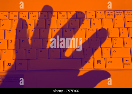 Online theft - Stock Photo