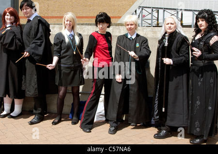 London Film & Comic Con 2011: Harry Potter characters - Stock Photo
