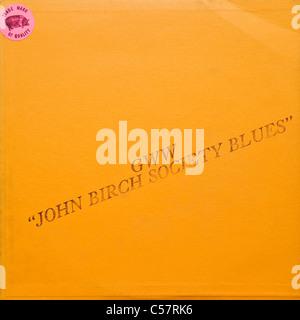 Original bootleg recording of GWW John Birch Society Blues Bob Dylan 1961-64 released 1970 on green vinyl concert - Stock Photo