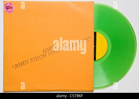 Original bootleg recording of John Birch Society Blues Bob Dylan 1961-64 released 1970 on green vinyl concert & - Stock Photo