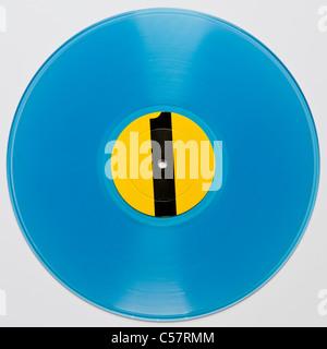 Original bootleg concert recording of Bob Dylan GWW Royal Albert Hall 1966 released 1971 on blue vinyl - Stock Photo