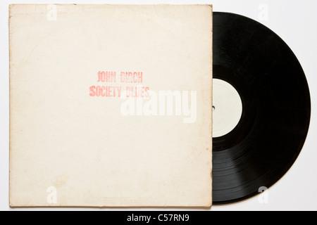 Original bootleg recording of John Birch Society Blues Bob Dylan 1961-64 released 1970 on black vinyl concert & - Stock Photo
