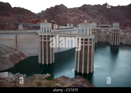 Boulder City, Nevada - The Hoover Dam and Lake Mead. - Stock Photo