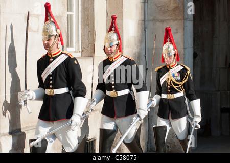 Queens Lifeguards at horseguards parade. London - Stock Photo