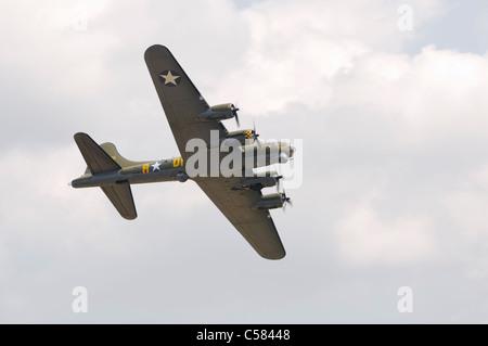WADDINGTON, ENGLAND, UK - JULY 2: Sally B Boeing B-17G-105-VE at Waddington on July 2, 2011 in Waddington, England, - Stock Photo