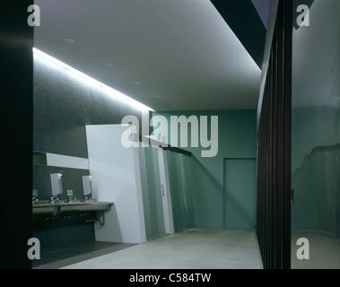 Vitra Fire Station, Weil-am-Rhein, 1993. The firemens toilets. - Stock Photo