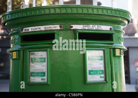 Republic of Ireland, Ireland, Dublin, Postbox, Postboxes, Letterbox, Letterboxes, Tourism, Travel, Holiday, Vacation - Stock Photo