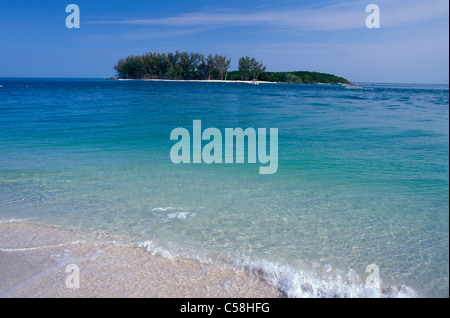Gulf Coast, Island, surf, North Captiva Island, Florida, USA, United States, America, sea, sky - Stock Photo