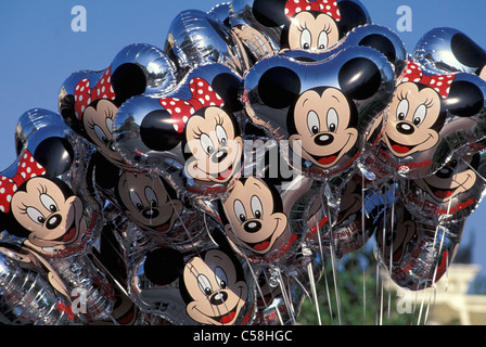 Balloons, Magic Kingdom, Walt Disney World, Orlando, Florida, USA, United States, America, Mickes Mouse - Stock Photo