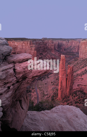 Spider Rock, Canyon de Chelly, National Monument, Arizona, USA, United States, America, rocks, mountains - Stock Photo