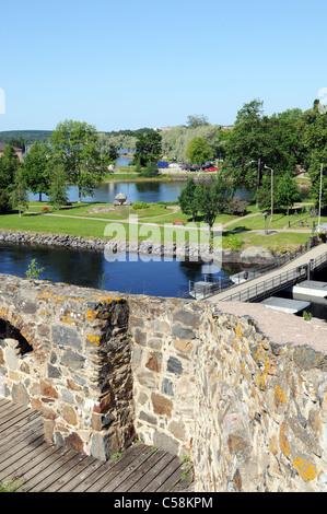 Olavinlinna castle near Savonlinna in Finland - Stock Photo
