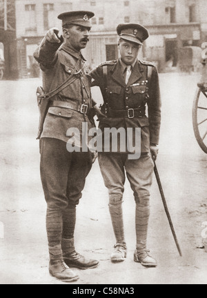 Prince of Wales, later King Edward VIII, in uniform during the First World War in 1914. - Stock Photo