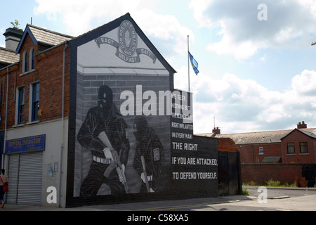 loyalist uvf wall mural on the newtownards road east belfast northern ireland uk - Stock Photo
