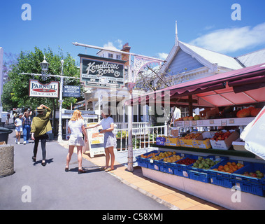 Parnell Village shops, Parnell Rise, Parnell, Auckland, Auckland Region, North Island, New Zealand - Stock Photo