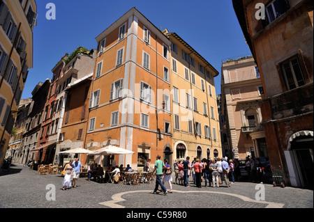 italy, rome, jewish ghetto, piazza costaguti - Stock Photo