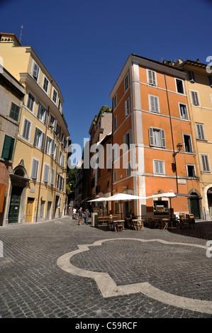 italy, rome, jewish ghetto, piazza costaguti and via di santa maria del pianto - Stock Photo
