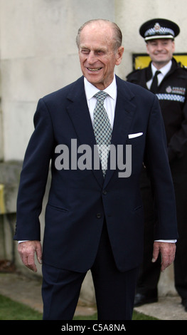 The Queen and the Duke of Edinburgh Prince Phillip visit Swansea. - Stock Photo