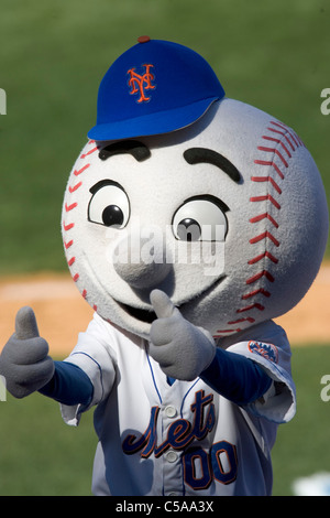 Mr Met during the Houston Astros at New York Mets game Shea Stadium, New York. - Stock Photo