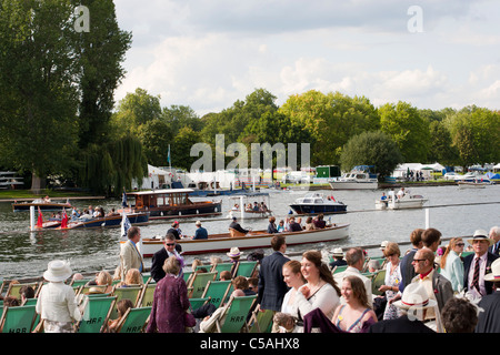 Henley Royal Regatta, Henley, Oxfordshire, England, UK - Stock Photo