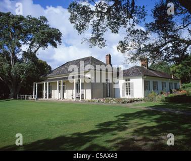 Waitangi Treaty House, Waitangi, Northland Region, North Island, New Zealand - Stock Photo