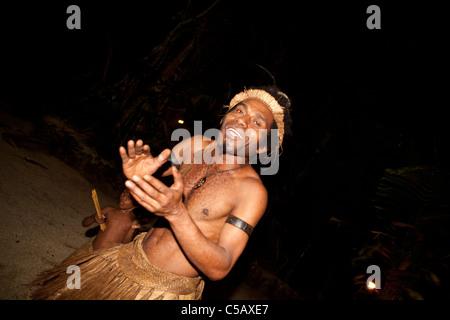 Local ceremonies performed by the indigenous people of Vanuatu - Stock Photo
