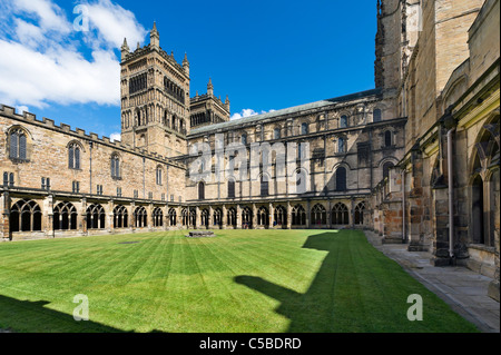 The Cloisters in Durham Cathedral, County Durham, North East England, UK - Stock Photo