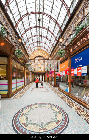 Shops in the Central Arcade off Grainger Street in the city centre, Grainger Town, Newcastle upon Tyne, Tyne and - Stock Photo