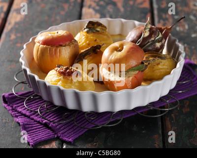 Potatoes, apples and pears swedish style au gratin - Stock Photo