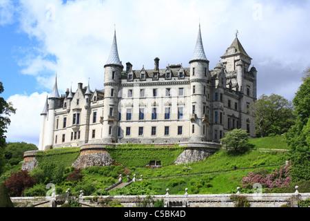 Dunrobin Castle, Golspie, Sutherland, Scotland, United Kingdom - Stock Photo