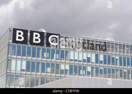 BBC Scotland Headquarters Building In Pacific Quay Glasgow Scotland - Stock Photo
