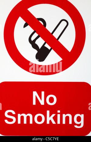 Close up of no smoking sign - Stock Photo