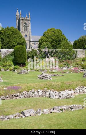 Shaftesbury abbey ruins, Dorset, England - Stock Photo