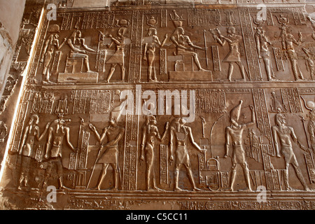 Sobek and Haroeris temple (2nd-1st century BC), Kom Ombo, Egypt - Stock Photo