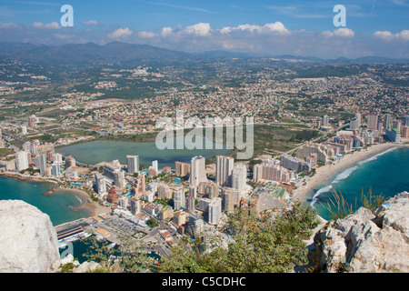 View on Calpe from the Ifach rock - Stock Photo