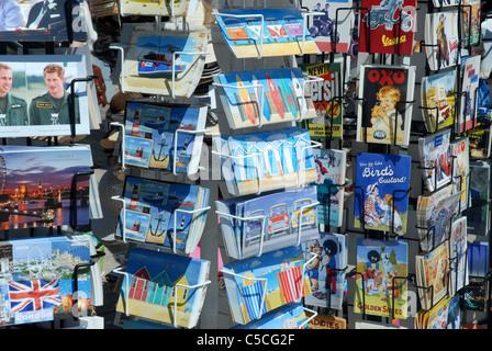 Postcard stands, Promenade, Brighton, Sussex, UK. - Stock Photo