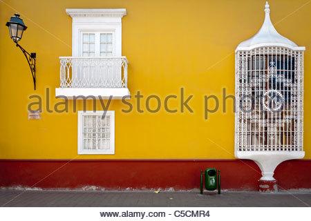 Exterior of Casa de la Emancipacion, Trujillo, La Libertad, Peru - Stock Photo