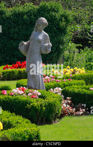 Statue in public garden at rear of Town Hall in Gatehouse of Fleet, Dumfries and Galloway, Scotland. - Stock Photo