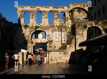 Silver (east) gate - Porta argentea - Diocletian's Palace, Split, Croatia - Stock Photo