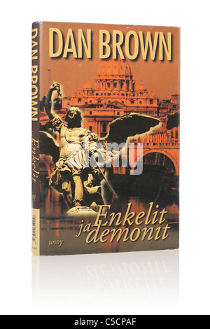 Dan Brown's Novel 'Angels & Demons'. Here in Finnish edition from 2005. - Stock Photo