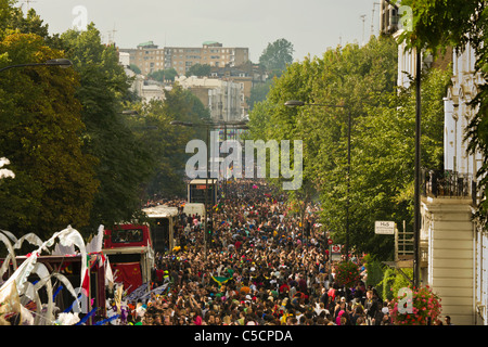Notting Hill Carnival 2010 view - Stock Photo