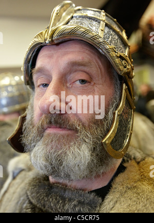 Viking at the Up Helly Aa Fire Festival Shetland Islands - Stock Photo