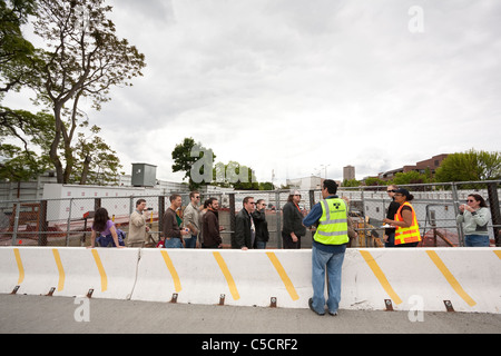 Link light rail construction site tour - Stock Photo