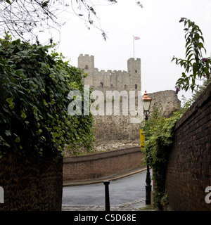 Rochester Castle in Kent - Stock Photo